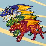 Striped Dragon Hatchlings by Vicats