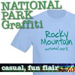 National Park T-Shirts: Graffiti Style