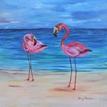 Two Flamingos