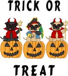 Halloween Trick or Treat Pugs