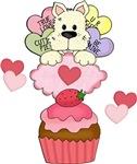 Cupcake Puppy Valentines