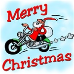 Motorcycle Santa t-shirts and Biker Santa Gifts