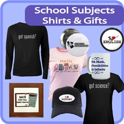 School Subjects Shirts & Gifts