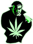 Halloween Weed Leaf Dracula