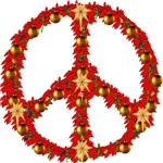 Poinsettia Peace Wreath