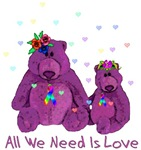 Purple Love Bears