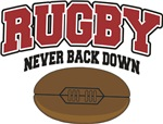 Rugby Never Back Down T-Shirts Gifts