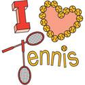 I Love Tennis T-Shirt & Gifts