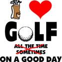 I Love Golf T-Shirt & Gifts