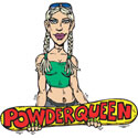 Powder Queen Snowboarder T-Shirt Gifts