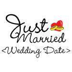 Just Married (Add Your Wedding Date) T-Shirts Gift