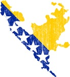 Federation Of Bosnia And Herzegovina Flag And Map