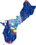 Guam Flag And Map