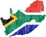South Africa Flag And Map