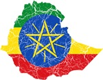 Ethiopia Flag And Map