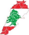 Lebanon Flag And Map