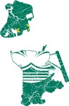 Macau Flag And Map