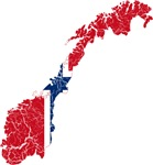 Norway Flag And Map