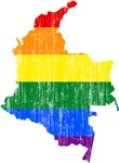 Colombia Rainbow Pride Flag And Map