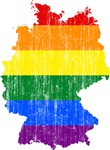 Germany Rainbow Pride Flag And Map