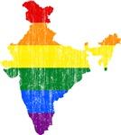 India Rainbow Pride Flag And Map