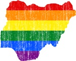 Nigeria Rainbow Pride Flag And Map