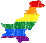 Pakistan Rainbow Pride Flag And Map