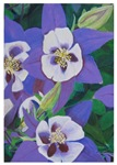 Purple Pansies Painting