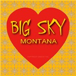 Big Sky Montana Golden Snowflake Heart