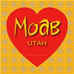 Moab Utah Golden Snowflake Heart