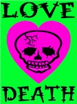 Death of Love Bitter Lime Skull Heart