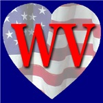 Love WV Flag Heart