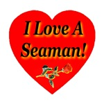 I Love A Seaman Rose Heart