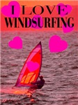 I Love Windsurfing Sunset Surf