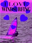 I Love Windsurfing Pink Dawn