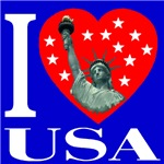 I Love USA Statue of Liberty Heart 2006c