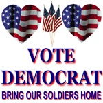 Vote Democrat Heart Knockers