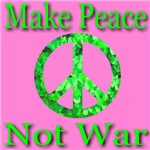 Make Peace Not War Shamrock Peace Symbol