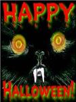 Vampire Cat Happy Halloween