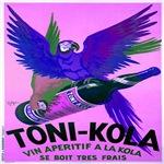 Blue Parrot Vintage Poster