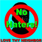 No Haters Love Thy Neighbor Skyblue