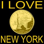 I Love New York Rare Golden State Coin Print