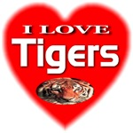I Love Tigers With Elliptical Inset