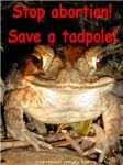 Stop abortion! Save a tadpole!
