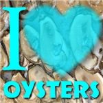 I (Heart) Oysters Blue for Him