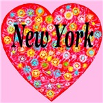 New York Red StarBurst Heart