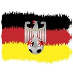 Germany soccer champion flag