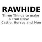 Rawhide Three Things to make a Trail Drive Cattle