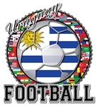 Uruguay Flag World Cup Football with World Flags