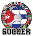 Cuba Flag World Cup Soccer Ball with World Flags